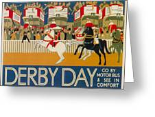 Vintage Poster - Derby Day Greeting Card