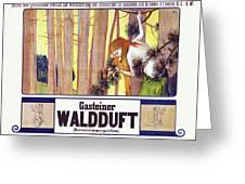 Vintage Poster - Gasteiner Waldduft Greeting Card