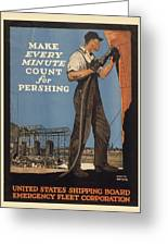 Vintage Poster - Make Every Minute Count Greeting Card