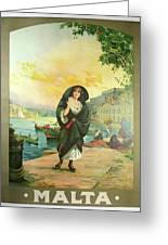 Vintage Poster - Malta Greeting Card