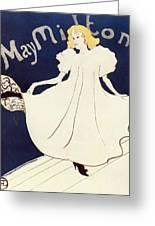 Vintage Poster - May Milton Greeting Card
