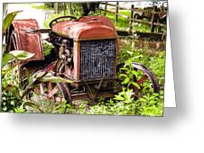 Vintage Rusted Tractor Greeting Card