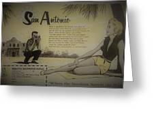 Vintage San Antonio Advertisement Greeting Card