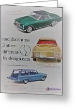Vintage Studebaker Advertisement Greeting Card