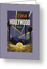 Vintage Travel Poster - Hollywood Greeting Card