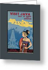 Vintage Travel Poster - Java Greeting Card