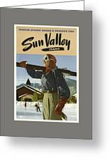 Vintage Travel Poster - Sun Valley, Idaho Greeting Card