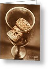 Vintage Vino Greeting Card
