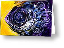 Violet Tri Fish Greeting Card