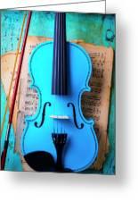 Violin Blues Greeting Card