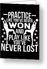 Volleyball Shirt Practice Like Youve Never Won Gift Tee Greeting Card