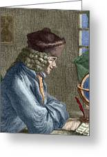 Voltaire In His Office In Vernay Greeting Card