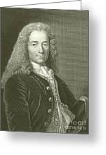Voltaire Portrait, Engraving Greeting Card