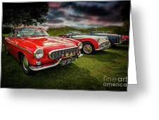 Volvo P1800 Classic Car Greeting Card
