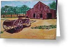 Wagons And Barns Greeting Card