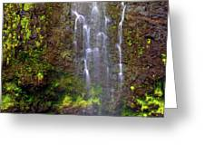 Waimoku Falls Greeting Card