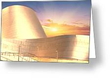 Wall Disney Concert Hall At Sunset Greeting Card