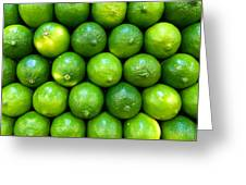 Wall Of Limes Greeting Card