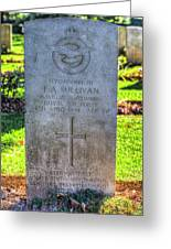 War Grave Of Flying Officer F A Sullivan  Greeting Card