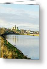 Warkworth Castle And River Aln Greeting Card