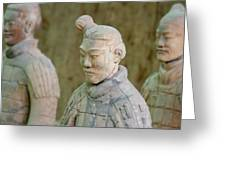 Warriors In Pit 1, Xi'an, China Greeting Card