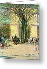 Washington Arch, Spring - Digital Remastered Edition Greeting Card