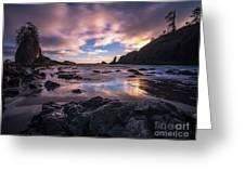 Washington Coast Skies Blue Clarity Greeting Card