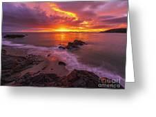 Washington Coast Sunset Serene Evening Greeting Card