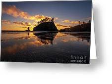 Washington Coast Weeping Lady Sunset Cloudscape Greeting Card