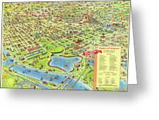 Washington Dc - Birds Eye View Map