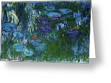 Water Lilies 1918 - Digital Remastered Edition Greeting Card