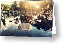 Water Palace, Bali, Indonesia Greeting Card
