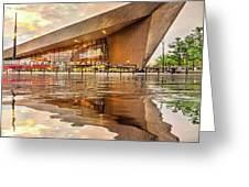 Water Reflection Central Station Rotterdam Greeting Card