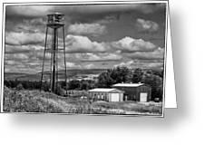 Water Tower In Hillsborough New Brunswick Greeting Card