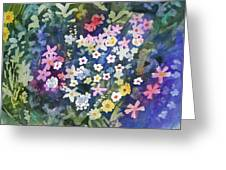 Watercolor - Alpine Wildflower Design Greeting Card