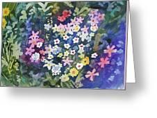 Watercolor - Alpine Wildflower Design Greeting Card