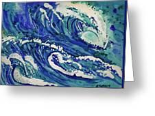 Watercolor - Ocean Wave Design Greeting Card