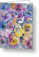 Watercolor - Pansy Design Greeting Card