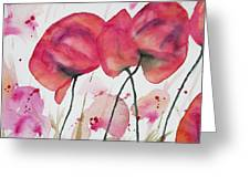 Watercolor - Poppy Portrait Greeting Card