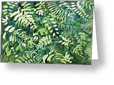 Watercolor - Rainforest Canopy Design Greeting Card