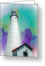 Watercolor Sky Lighthouse Greeting Card