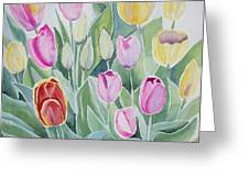 Watercolor - Spring Tulips Greeting Card