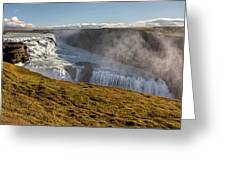 Waterfall Mist Of Iceland Greeting Card