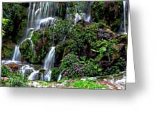 Waterfalls At Seven Star Park Greeting Card