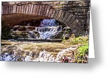 Waterfalls Through Stone Bridge Greeting Card