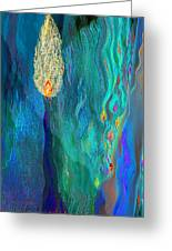 Watery Abstract Xviii - Women And Candles Greeting Card