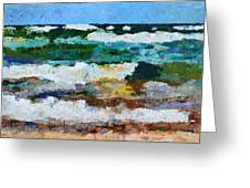 Waves Crash - Painting Version Greeting Card