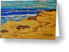 Waves On A Rocky Beach Greeting Card