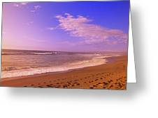 Waves On The Beach, North Beach, Point Greeting Card