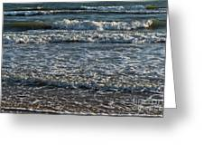 Waves Quietly Approaching Greeting Card